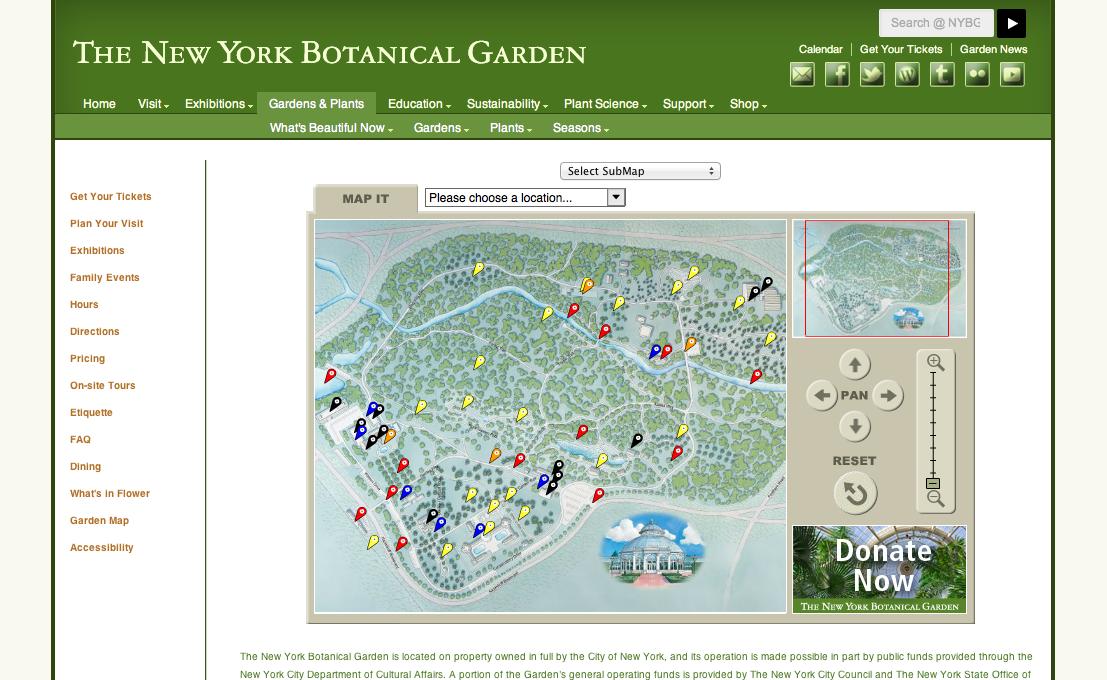Garden map examples landscape laboratory - New york botanical garden directions ...